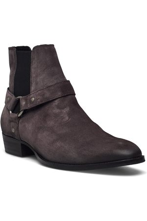 Bianco Biabeack Suede Western Shoes Chelsea Boots Lace Up Boots