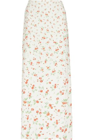Paco rabanne Floral high-rise stretch-jersey midi skirt