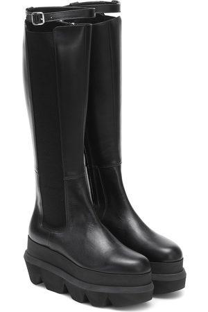 SACAI Leather knee-high boots