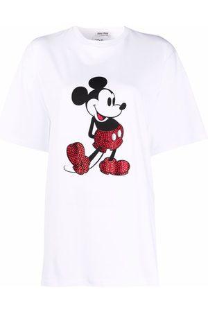 Miu Miu Cartoon-print embellished T-shirt