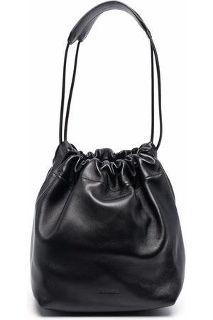 Jil Sander Naiset Olkalaukut - Ruched leather shoulder bag