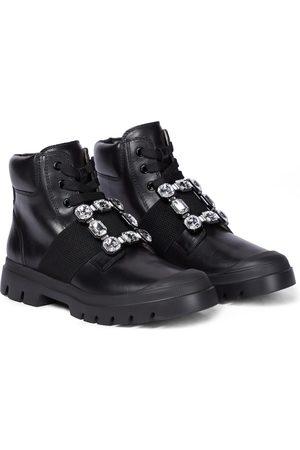 Roger Vivier Naiset Nilkkurit - Viv Desert leather ankle boots