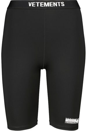 VETEMENTS Logo-print biker shorts