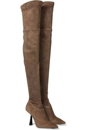 Jimmy Choo Bryson 100 over-the-knee suede boots