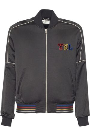 Saint Laurent Teddy Jacket W/ Logo Patch