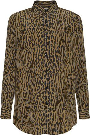 SAINT LAURENT Printed Oversize Silk Shirt