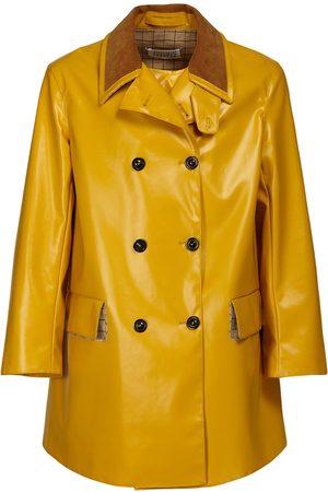 MAISON MARGIELA Coated Cotton Double Breast Raincoat
