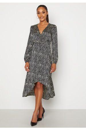 Chiara Forthi Terezia wrap dress Black / Patterned 40