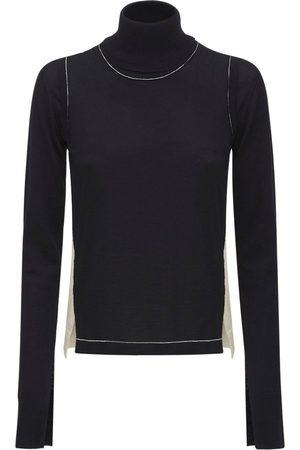 AMBUSH Naiset Poolopaidat - Layered Wool Knit Turtleneck Sweater