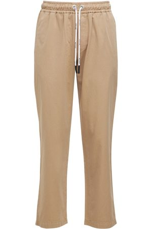 PALM ANGELS Miehet Chinot - Washed Logo Cotton Chinos