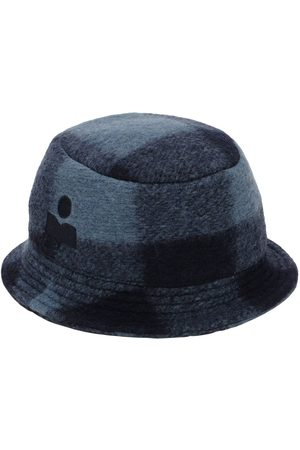 Isabel Marant Haley Checked Wool Blend Bucket Hat