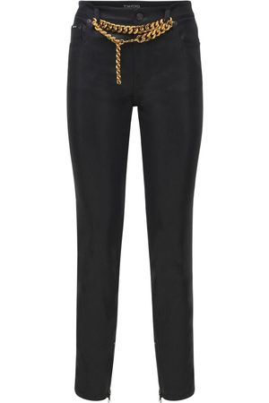 Tom Ford Naiset Kapeat - Shiny Lacquered Denim Skinny Pants