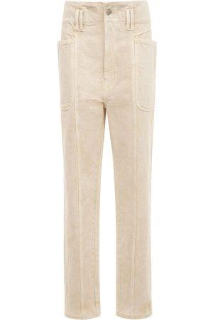 ISABEL MARANT ÉTOILE Tess High Waist Cotton Straight Pants