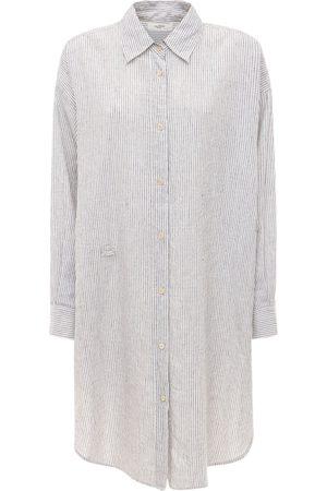 ISABEL MARANT ÉTOILE Seen Striped Poplin Draped Mini Dress