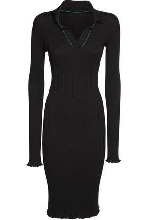 Bottega Veneta Naiset Midimekot - Ribbed Cotton Knee Length Dress