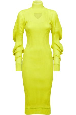 Bottega Veneta Silk Rib Midi Dress