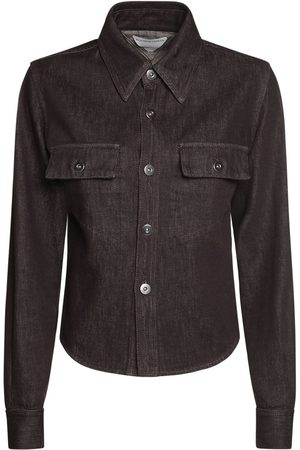 Bottega Veneta Naiset Farkkupaidat - Truffle Cotton Denim Shirt