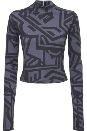 MCQ Naiset Poolopaidat - Dazzele Print Jersey Rollneck Top