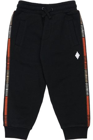 MARCELO BURLON Cotton Blend Sweatpants W/ Logo Bands