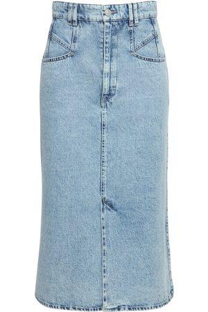 ISABEL MARANT Naiset Midihameet - Dipoma Cotton Denim Midi Skirt