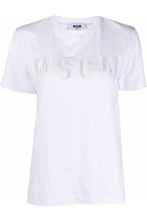 Msgm Logo-patch cotton T-shirt