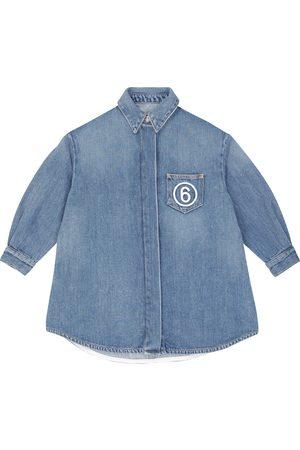 MM6 Maison Margiela Kids Logo-embroidered jeans shirt
