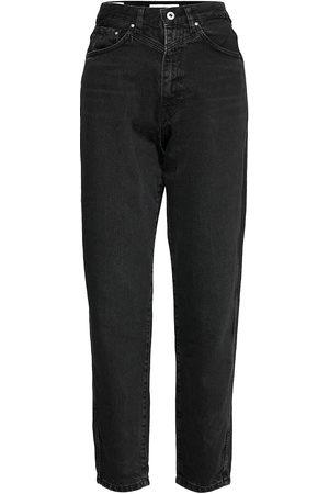 Pepe Jeans Naiset Boyfriend - Rachel Jeans Mom Jeans Musta