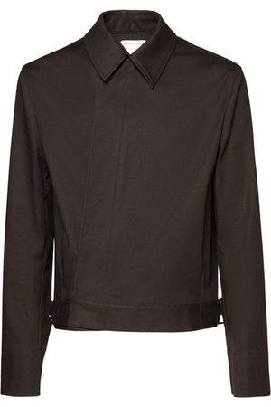 Bottega Veneta Waterproof Stretch Cotton Shirt Jacket