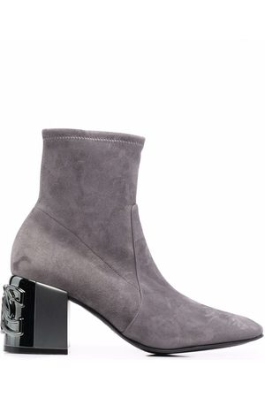 Casadei Naiset Nilkkurit - C-Chain suede ankle boots