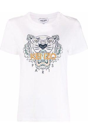 Kenzo Naiset T-paidat - Tiger-print short-sleeved T-shirt