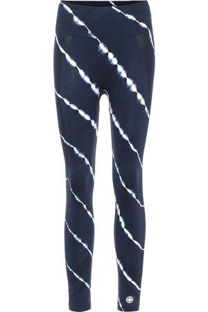 Tory Sport Tie-dye high-rise leggings