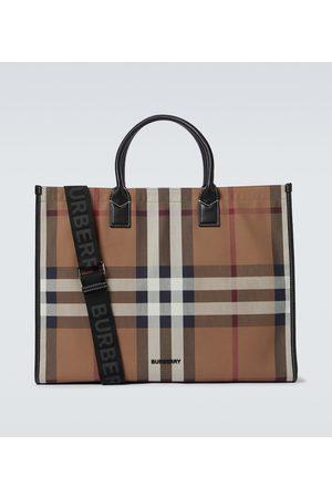 Burberry Denny checked tote bag