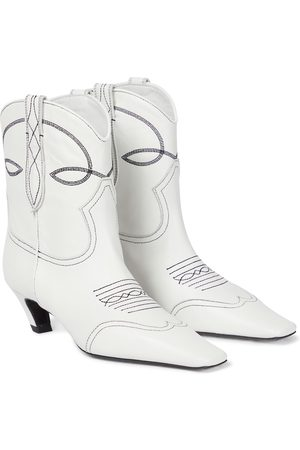 Khaite Dallas leather cowboy boots