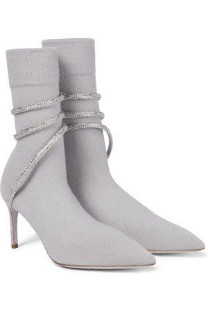 RENÉ CAOVILLA Cleo embellished ankle boots