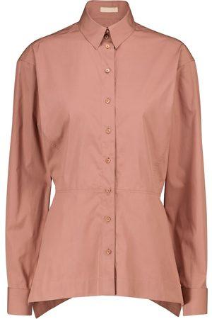 Alaïa Cotton poplin peplum shirt