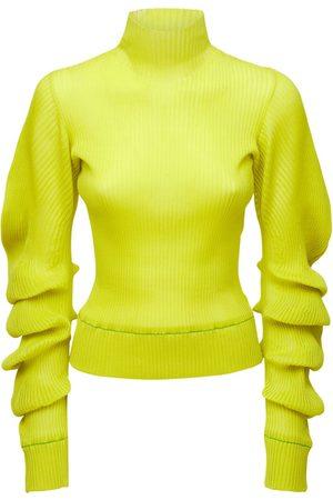 Bottega Veneta Naiset Poolopaidat - Silk Rib Knit Turtleneck Sweater