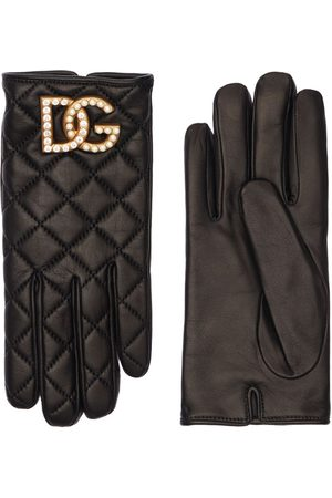 DOLCE & GABBANA Dg Quilted Leather Gloves
