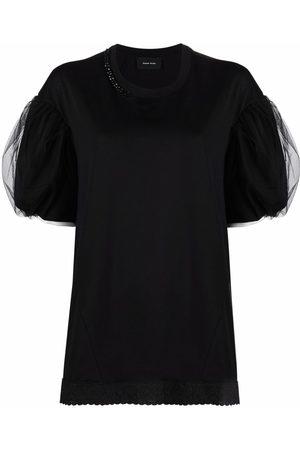 Simone Rocha Naiset T-paidat - Puffball-sleeve T-shirt