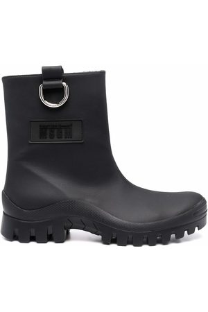 MSGM Round-toe ankle leather boot