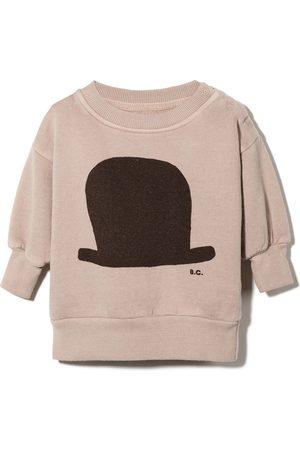 Bobo Choses Hat print crewneck sweatshirt