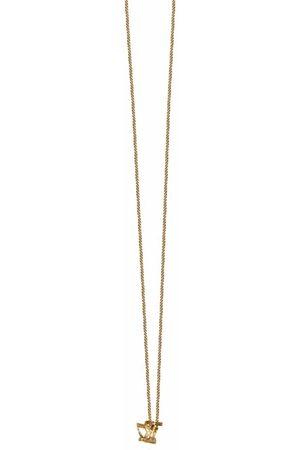 Saint Laurent YSL twist pendant long necklace