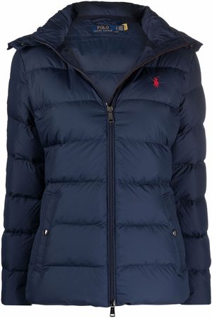 Polo Ralph Lauren Embroidered-logo hooded down jacket