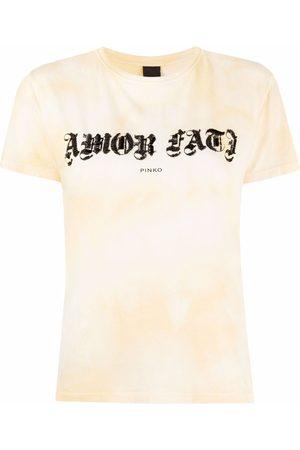 Pinko Embellished-slogan tie-dye T-shirt