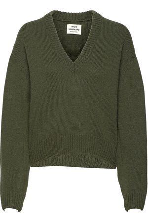 Mads Nørgaard Recycled Wool Mix Kevi Neulepaita Beige