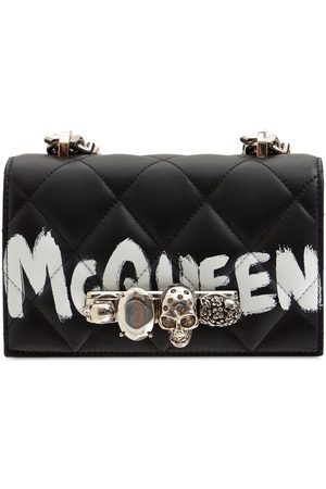 Alexander McQueen Mini Jeweled Graffiti Shoulder Bag