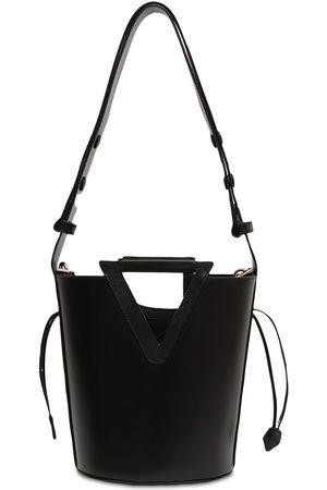 ROGER VIVIER Medium Rv Leather Bucket Bag