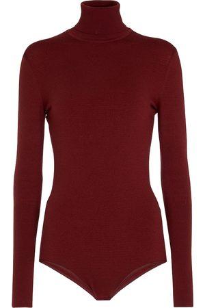 Alaïa High-neck wool-blend bodysuit