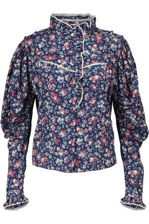 Isabel Marant Naiset Pitkähihaiset - Darya floral cotton blouse