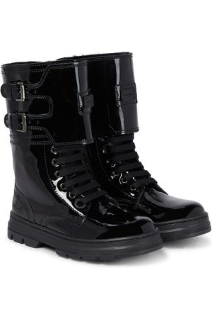 Dolce & Gabbana Patent leather combat boots