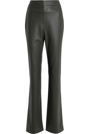 Safiyaa Goldie high-rise faux leather pants